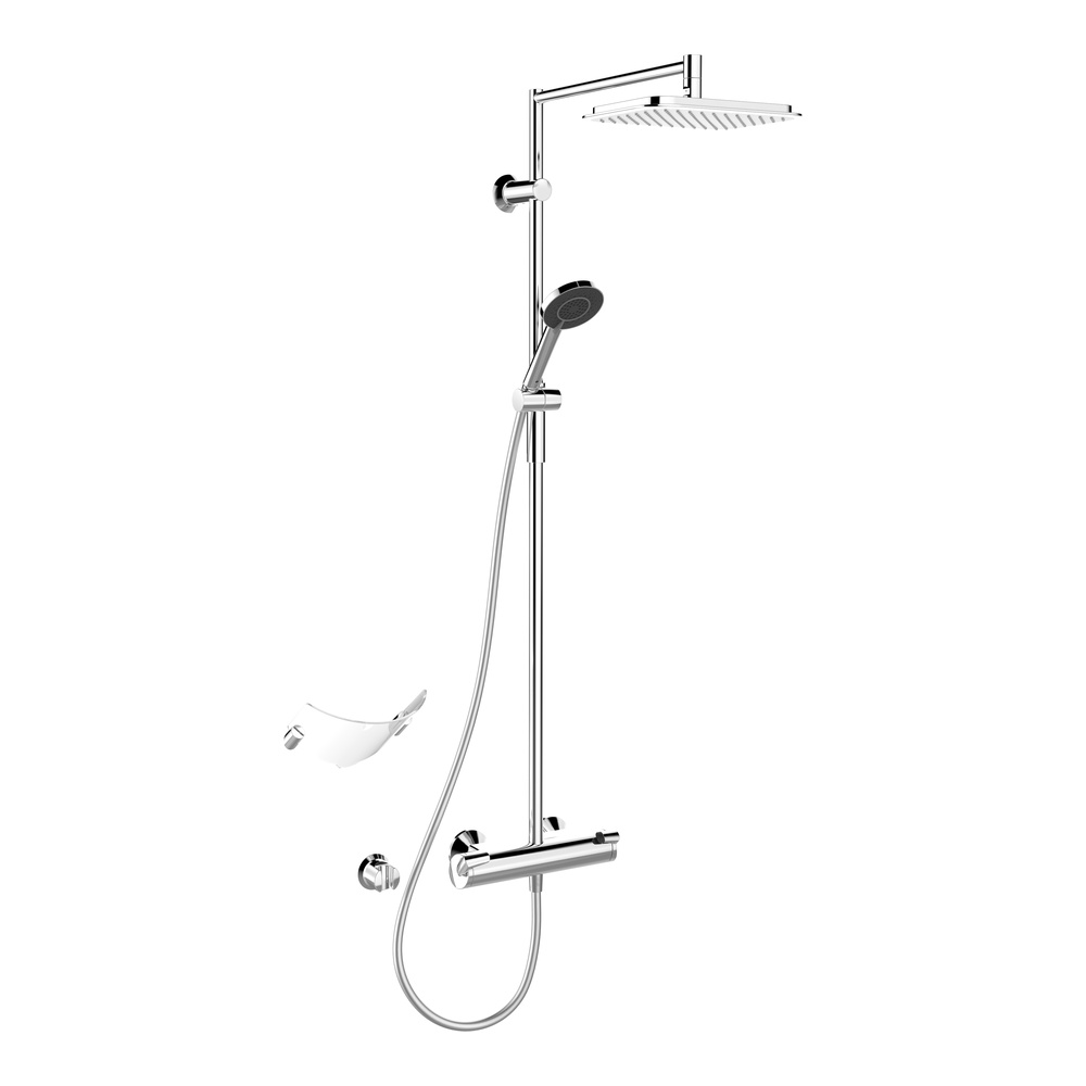 hansa brause thermostat batt f wandaufbau duschsystem. Black Bedroom Furniture Sets. Home Design Ideas