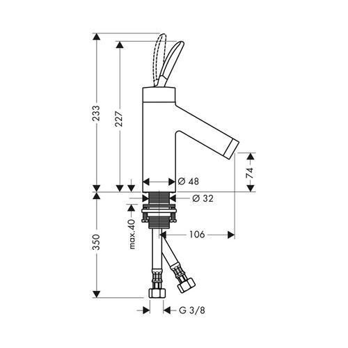 Hansgrohe Axor Starck Classic Einhebel-Waschtischmischer ohne Zugstange 1