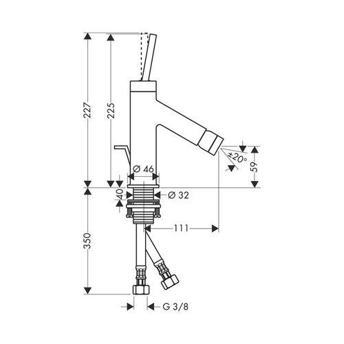 Hansgrohe Axor Starck Einhebel-Bidetmischer mit Zugstangen-Ablaufgarnitur 1