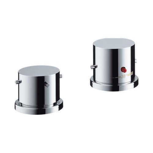 Axor Starck 2-Loch Wannenrandarmatur mit Thermostat