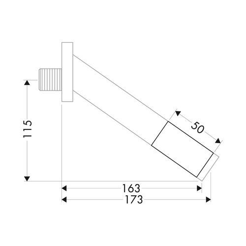 Hansgrohe Axor Starck Verlängerung 5 cm für Wanneneinlauf 1