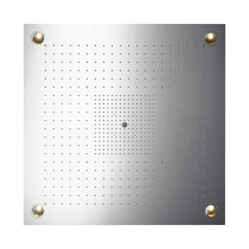 Hansgrohe Axor ShowerCollection ShowerHeaven 97 x 97 cm 3jet mit Beleuchtung edelstahl 0