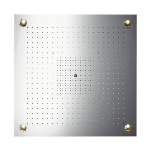 Axor ShowerCollection ShowerHeaven 97 x 97 cm 3jet mit Beleuchtung edelstahl