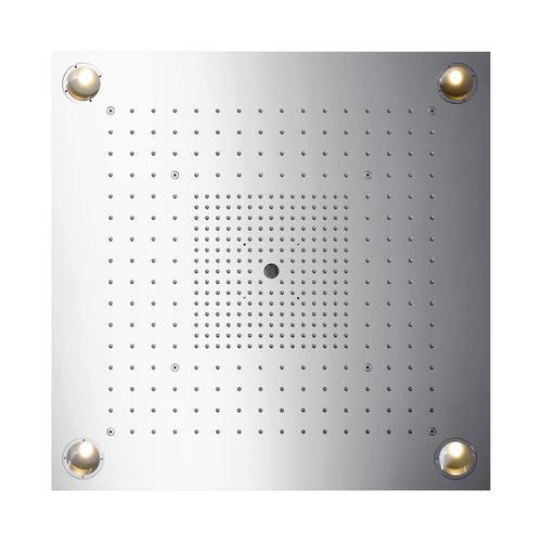 Hansgrohe Axor ShowerCollection ShowerHeaven 72 x 72 cm 3jet mit Beleuchtung edelstahl 0