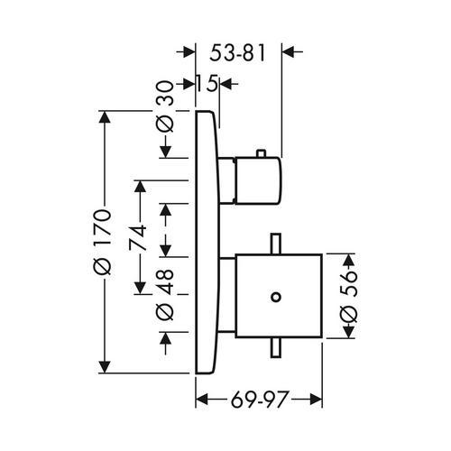 Hansgrohe Axor Starck Thermostat Unterputz mit Ab- und Umstellventil 1