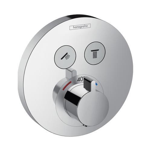 ShowerSelect S Thermostat Unterputz für 2 Verbraucher, rund, chrom
