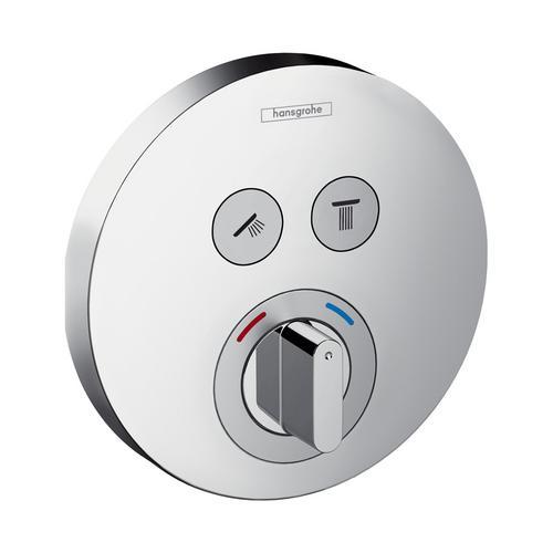 ShowerSelect S Mischer Unterputz für 2 Verbraucher, chrom, rund