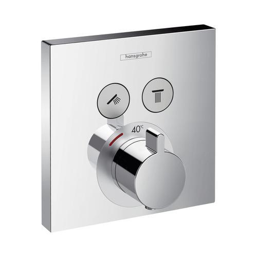 ShowerSelect Thermostat Unterputz für 2 Verbraucher, eckig, chrom
