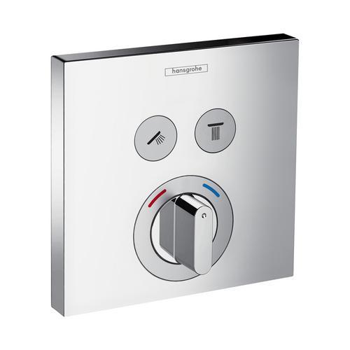 ShowerSelect S Mischer Unterputz für 2 Verbraucher, eckig, chrom