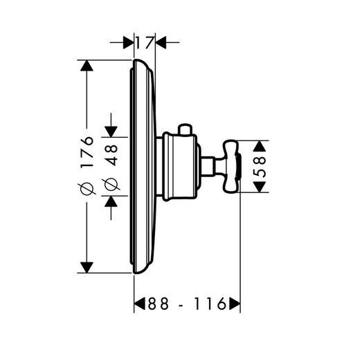 Hansgrohe Axor Montreux Thermostat Highflow Unterputz 1