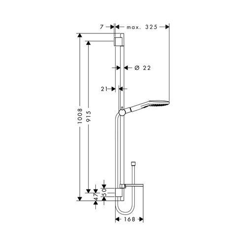 hansgrohe raindance brausenset select e 120 ecosmart 26623 design in bad. Black Bedroom Furniture Sets. Home Design Ideas