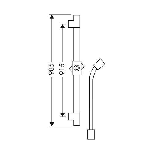 Hansgrohe Axor Starck Brausestange 0,90 m 1