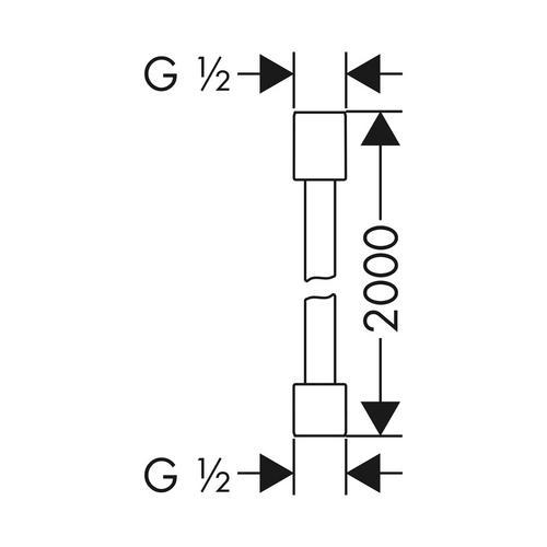 Hansgrohe Axor Starck Brausenschlauch Metalleffekt 2 m chrom 1
