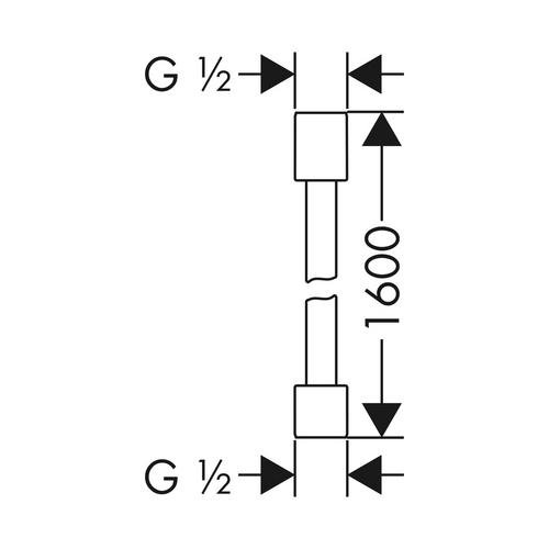 Hansgrohe Axor Starck Brauseschlauch Metalleffekt 1,60 m chrom 1