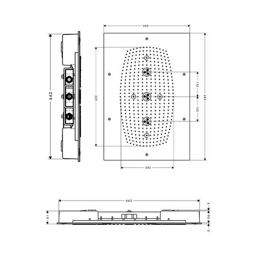 Hansgrohe Rainmaker 68x46 cm ohne Beleucht. 28417 1