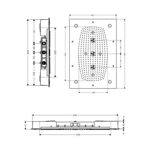 Hansgrohe Rainmaker 68x46 cm mit Beleucht. 28418 1
