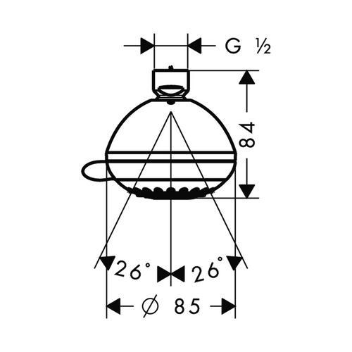 Hansgrohe Crometta 85 Variojet Kopfbrause 28424 1
