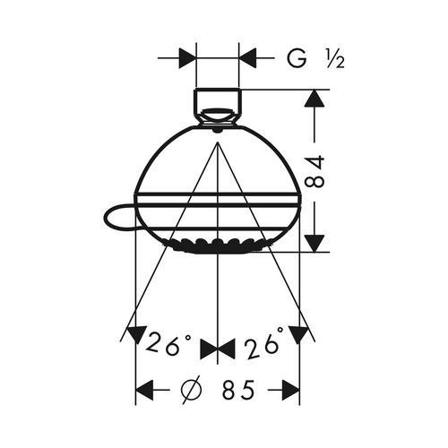 Hansgrohe Crometta 85 Multi Kopfbrause 28425 1