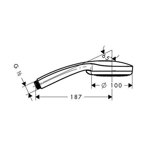 Hansgrohe Croma 100 Multi Handbrause chrom ⌀ 10 cm 1