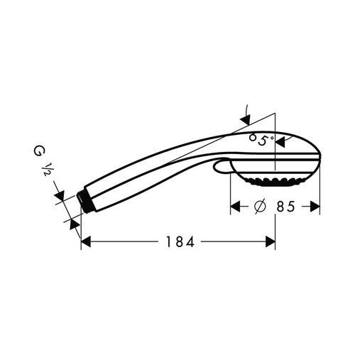 Hansgrohe Crometta 85 Variojet Handbrause chrom Ø 8,5 cm 1