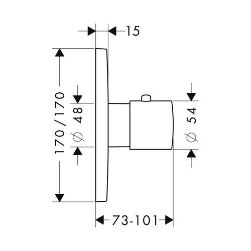 Hansgrohe Axor Citterio M Thermostat 43 l/min Unterputz 1