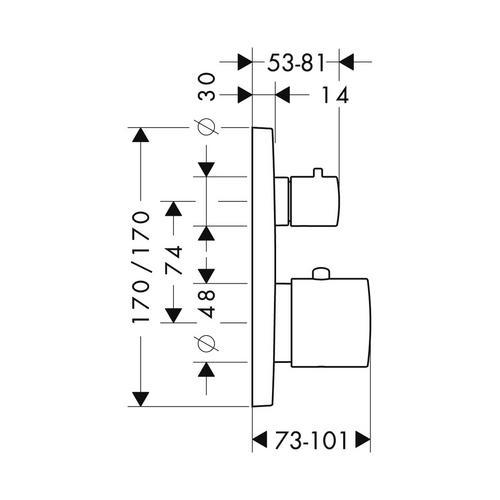 Hansgrohe Axor Citterio M Thermostat Unterputz mit Ab- und Umstellventil 1
