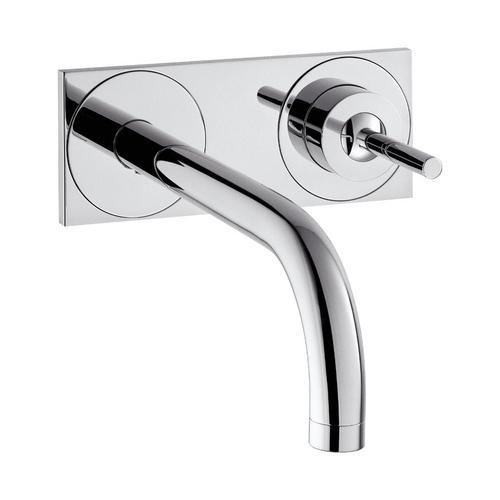 Hansgrohe Axor Uno² Einhebel-Waschtischmischer Unterputz mit Auslauf 225 mm und Platte für Wandmontage 0