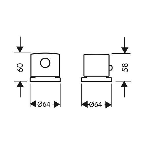 Hansgrohe Axor Uno² 2-Loch Wannenrandarmatur mit Thermostat 1