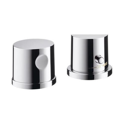 Hansgrohe Axor Uno² 2-Loch Wannenrandarmatur mit Thermostat 0