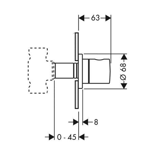 Hansgrohe Axor Uno² Abstellventil Unterputz 1