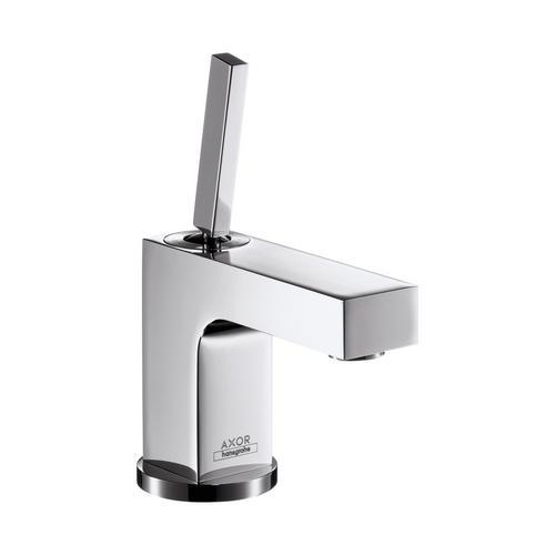Axor Citterio Einhebel-Waschtischmischer 80 mit Zugstangen-Ablaufgarnitur für Handwaschbecken