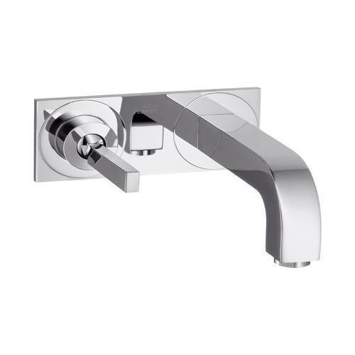 Axor Citterio Einhebel-Waschtischmischer Unterputz mit Auslauf 165 mm und Platte für Wandmontage