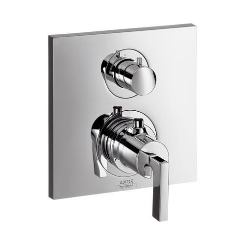 Axor Citterio Thermostat Unterputz mit Abstellventil und Hebelgriff