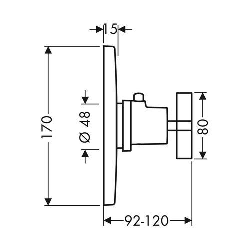 Hansgrohe Axor Citterio Thermostat 59 l/min Highflow Unterputz mit Kreuzgriff 1