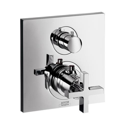 Axor Citterio Thermostat Unterputz mit Ab- und Umstellventil und Kreuzgriff