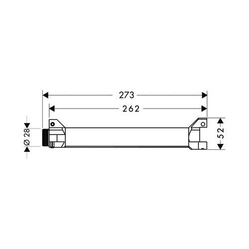 Hansgrohe Axor ShowerSolutions Grundkörper / Wasserführung für Ablage Unterputz 24 x 12 1