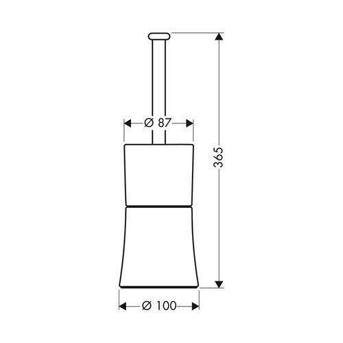 Hansgrohe Citterio WC-Bürstenhalter chrom 1