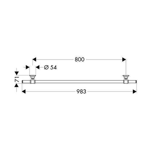 Hansgrohe Axor Montreux Badetuchhalter 98,3 cm 1