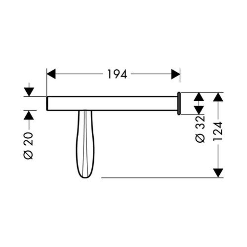 Hansgrohe Massaud Papierrollenhalter chrom 1
