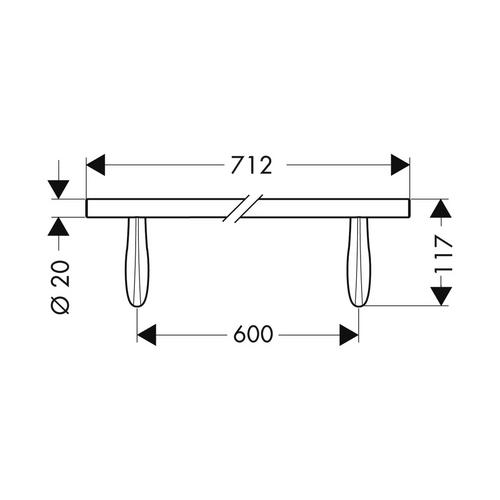 Hansgrohe Massaud Badetuchhalter 600 mm chrom 1