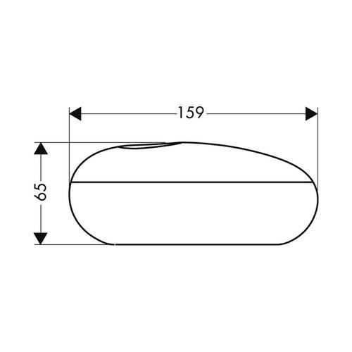 Hansgrohe Massaud Kosmetikbox oval weiß 1