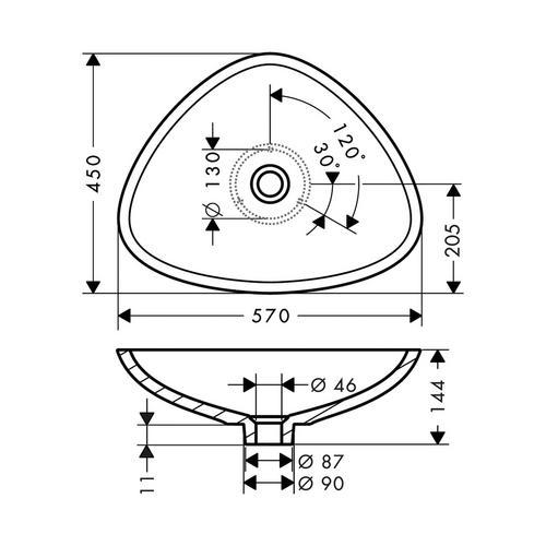 Hansgrohe Axor Massaud Waschschüssel 600 mm 1