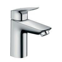 Logis Einhebel-Waschtischmischer 100 mit Metall Zugstangen-Ablaufgarnitur
