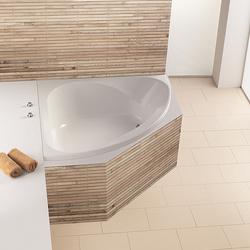Spectra Eck-Badewanne symetrisch, ohne Schürze, Einbauversion, Schenkellänge: 140 cm