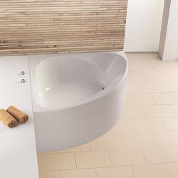 Spectra Eck-Badewanne symetrisch, mit angeformter Schürze, Schenkellänge: 140,8 cm
