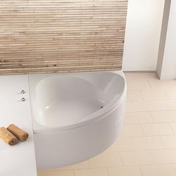 Spectra Eck-Badewanne symetrisch, mit loser Schürze und Gestell, Schenkellänge: 141,6 cm