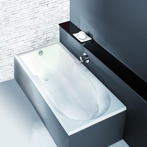 Spectra Rechteck-Badewanne, mit Duschzone, ohne Schürze, Einbauversion 170  x 80 x 48 cm