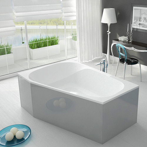 HO BW Spectra 1800x1200 links, weiß - Design in Bad