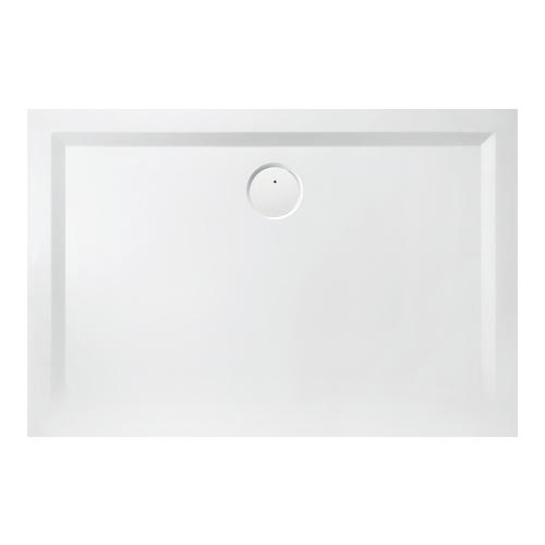 Muna Rechteck-Duschwanne ohne Antirutschoberfläche 100 x 80 x 1,5 cm
