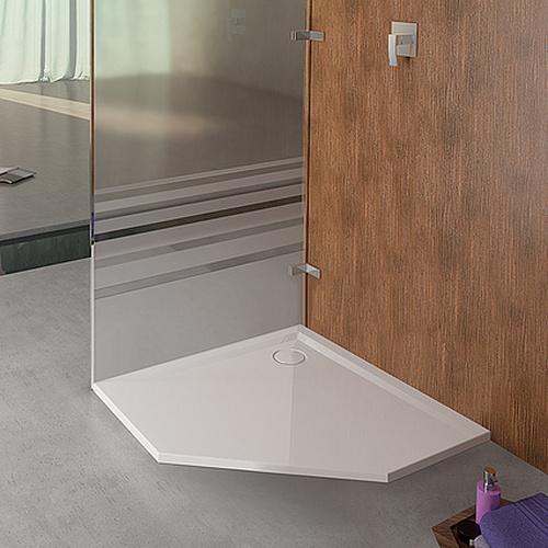 Muna Fünfeck-Duschwanne ohne Antirutschoberfläche 100 x 100 x 1,5 cm